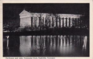 Tennessee Nashville Parthenon And Lake Centennial Park 1941