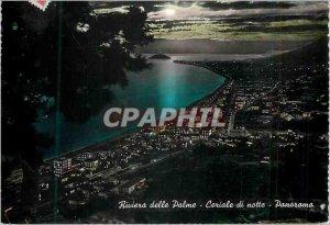 Modern Postcard Panorama Notturno Riviera delle Palme Night Panorama