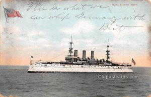 USS New York Military Battleship 1910