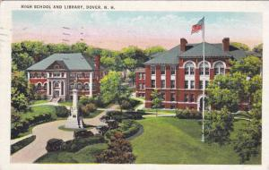 High School and Library, Dover, New Hampshire, PU 1936
