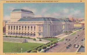 California San Francisco War Memorial And Opera House Civic Center