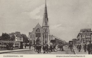 Caledonian Road Islington in 1900 Postcard