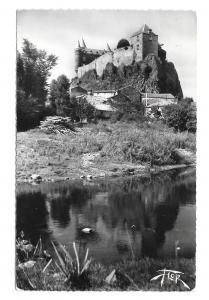 France Chateau de Sailhant St Flour Glossy Photo Marceau Carriere FLOR Postcard
