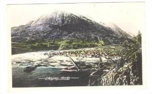 RP; Hand-colored, Aerial View of Skagway and surrounding area, Alaska, 10-20s