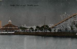 TORONTO ISLAND, Ontario, 1900-10s ; At Night , Hanlan's Point Amusement Park