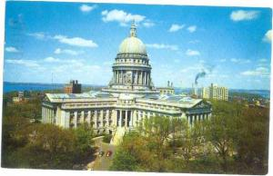 Wisconsin State Capitol Madison WI 1985 Chrome