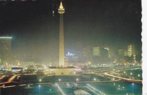 National Monument at night , Jarkarta , Indonesia, PU-1979