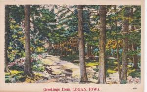 Iowa Greetings From Logan