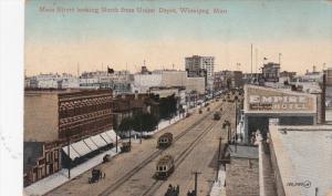 WINNIPEG , Manitoba , Canada , PU-1912 : Main Street , North from Union DEpot