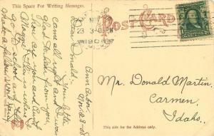 ANN ARBOR MICHIGAN 1908 Medical Building University Wahr postcard 3303