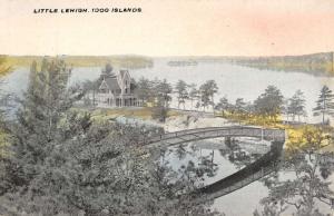 Thousand Islands New York Little Lehigh Aerial View Antique Postcard K9945