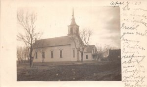 F53/ Verdon Nebraska RPPC Postcard 1907 Church Building