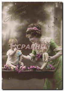 Old Postcard Fun Children Doll Woman