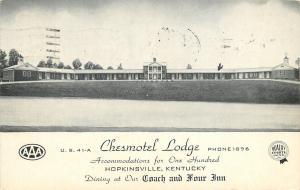Hopkinsville Kentucky~Chesmotel Lodge~Coach and Four Inn 1952 B&W Postcard