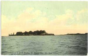 Ram Island, St. Albans Bay, Vermont, VT, Divided Back
