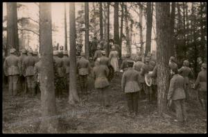 Germany WWI Funeral Services In Forest Cemetery Grave  RPPC 65501