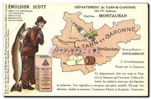 Postcard Old Scott Emulsion Department Tarn et Garonne Montauban