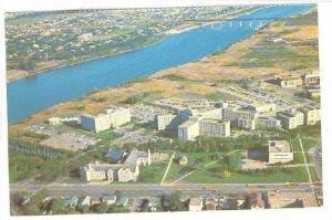 Aerial View Of The University Of Saskatchewan, Saskatoon, Saskatchewan, Canad...