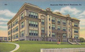 Exterior,  Nanticoke High School,  Nanticoke,  Pennsylvania,   30-40s