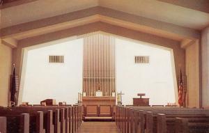 Togus Maine~Veterans Administration Center Hospital Chapel~Interior~1960s PC