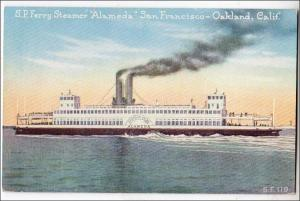 S.P. Ferry, Steamer Alameda, San Francisco-Oakland Ca