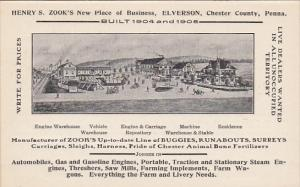 Pennsylvania Elverson Chester County Henry S Zook Vehicles