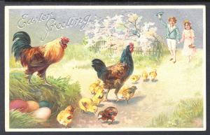 Easter Greetings,Chicks,Boy,Girl