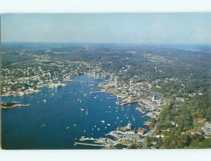 Pre-1980 AERIAL VIEW OF TOWN Boothbay Harbor Maine ME n3292
