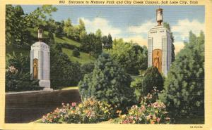 Entrance Memory Park and City Creek Canyon - Salt Lake City, Utah - Linen