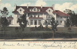 Bailey Residence Mt Vernon New York 1908 postcard