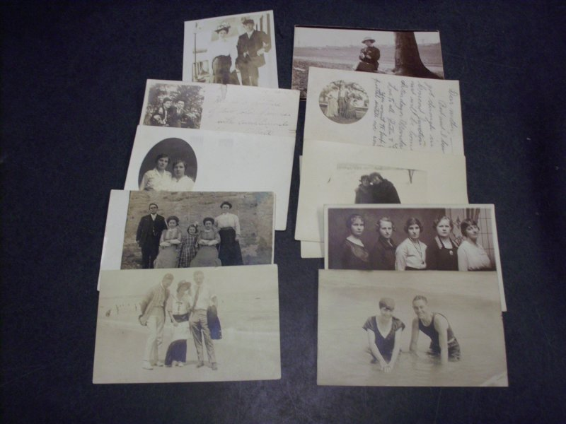 Real People Postcards  Groups men and women,