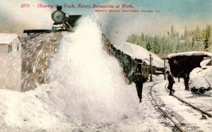 CA - Shasta Route, Southern Pacific RR. Rotary Snowplow at Work