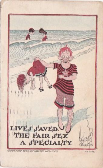 Humour Live's Saved The Fair Sex A Specialty 1912 By Walter Wellman