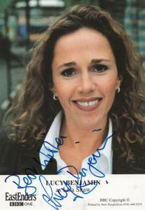 Lucy Benjamin as Lisa Shaw Eastenders Undedicated Hand Signed Cast Card Photo