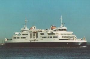 Tycho Brahe Helsingor Ferry Helsinger Denmark Astronomy Founder Ship Postcard