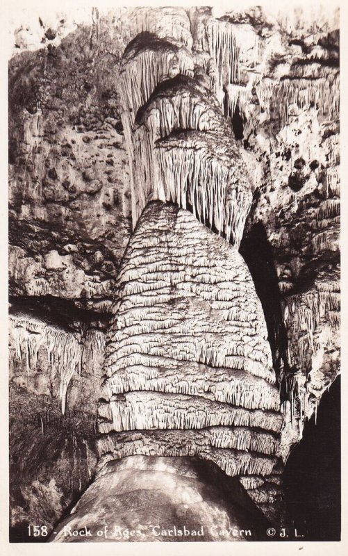 RP; CARLSBAD, New Mexico, 1930-1940's; Rock Of Ages, Carlsbad Cavern