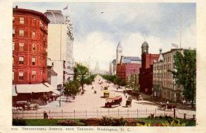 DC - Washington. Pennsylvania Avenue from the Treasury