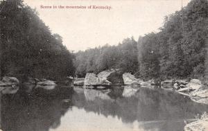 Kentucky~Mountain Creek~Zanesville Ohio Art Mfg Co Advertising~Wax Ebony~1910 PC