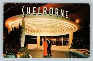 Miami Beach FL- Florida, The Shelborne, Hotel, Entrance, Chrome Postcard