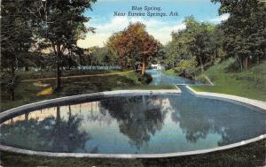 Eureka Springs Arkansas~Blue Springs~1940s Linen Postcard