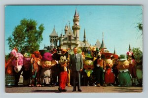 Disneyland - It All Started with a Mouse, Walt Disney Chrome California Postcard