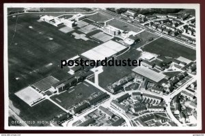 dc836 - ENGLAND Hull 1950s Greatfield High School Air View. Real Photo Postcard