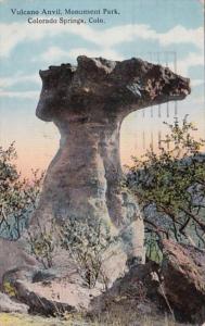 Colorado Colorado Springs Vulcano Anvil Monument Park 1920 Curteich
