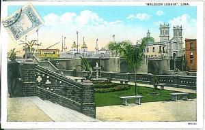 VINTAGE POSTCARD: PERU - LIMA 1926