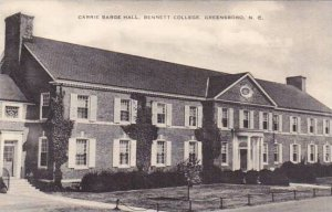North Carolina Greensboro Carrie Barge Hall Bennett College Albertype