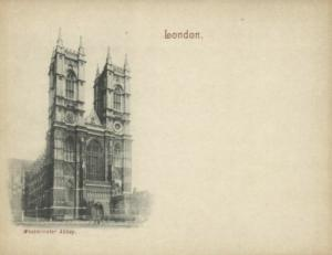 london, Westminster Abbey (1899) Court Card (2)