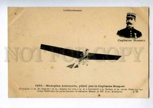 205276 FRANCE AVIATION Antoinette airplane pilot BURGEAT