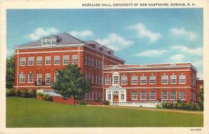 Durham New Hampshire~University Of New Hampshire~Murkland Hall~Entrance~1934