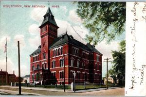 High School, New Bedford, Massachusetts - Street Car  D2
