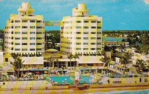Florida Miami Beach The Sherry Frontenac Hotel With Pool 1953
